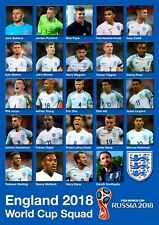 England World Cup Squad 2018 Poster A4 # 2 297mm x 210mm