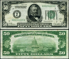 FR. 2100 G $50 1928 Federal Reserve Note Chicago G-A Block VF+