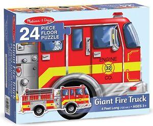 Melissa & Doug - Giant Firetruck Floor Puzzle 24 Pieces
