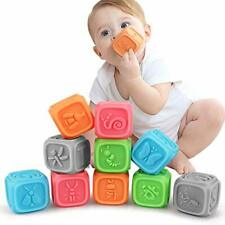 Tumama Baby Blocks,Soft Baby Building Blocks for Toddlers,Teething Chewing Toys