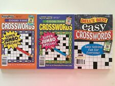 Lot of 3 Crosswords Penny Press Good Time FAST SHIP Dells Best Super JUMBO Easy