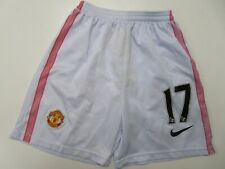 Manchester United #17 Jersey Shorts White Nike Soccer Youth Boys Small