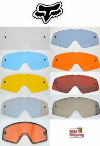 FOX RACING BRAND MAIN GOGGLE REPLACEMENT LENSES CHOOSE - COLOR MIRROR SPARK NEW