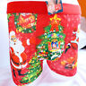 Funny Xmas Christmas Gift Him Santa Cotton Mens Boxer Shorts Trunks L XL 2XL 3XL