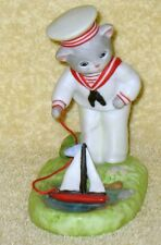 Collectible Schmid 1992 Kitty Cucumber Sailor Outfit with Boat