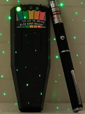 KII K-II K2 EMF Meter GHOST DETECTOR & Green Laser Grid Pen & Extras