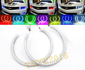 RGB Halo Rings for Chevrolet Camaro 10-15 halogen Headlight LED Angel Eye DRL