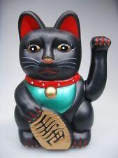 20cm Glückskatze Winkekatze Maneki Neko schwarz