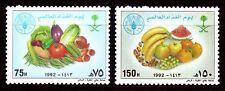 Saudi Arabia 1992 ** Mi.1159/60 Früchte Fruits Nahrung Food