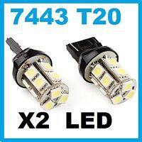 2X T20 7443 13 LED 5050 SMD Car Parking Turn Signal  Light Lamp Bulb ..