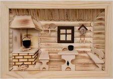 3D Holzbild Wandbild 30 x 21 cm Bauernstube Handarbeit