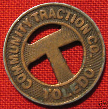Collectible Vintage Toledo Ohio Community Traction Co Token whotoldya Lot 10610