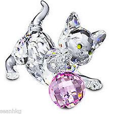 Swarovski Kitten Standing Cat Play Ball Crystal Figurine Authentic MIB - 631856