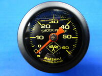 "Marshall Gauge 0-60 psi Fuel Pressure Oil Pressure 1.5"" Midnight Black Liquid"