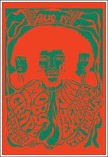 Jimi Hendrix 1967 Santa Barbara Concert Poster