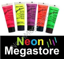 5 X Stargazer UV Reactive Neon Body / Face Paint,Set #2