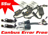 55W H4 Bi-Xenon Hid Conversion Kit Set Pair Replacement Canbus For Fiat