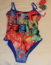 Speedo Endurance Freedom Ladies Printed 1 Piece Swimsuit Bathers Size 12 New