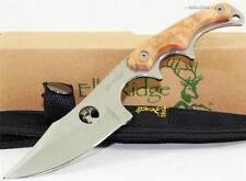 Elk Ridge Curved Finger Grooved Full Tang Maple Burlwood Skinner Hunting Knife
