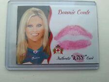BENCHWARMER MODEL ACTUAL KISS TRADING CARD BONNIE CONTE