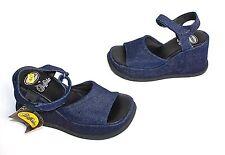 Buffalo! Vintage à Jeans Escarpins avec sangle 37 Bleu NEUF
