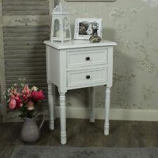 Tables de chevet et rangements blancs 2 tiroirs pour la maison