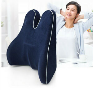 Orthopedic Lumbar Support Pillow, Back Cushion with Memory Foam