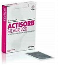 10 PACK ACTISORB SILVER 220 ACTIVATED CHARCOAL DRESSING 10.5 CM X 10.5 CM NEW