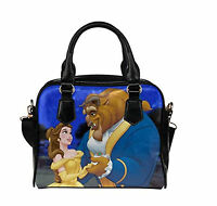 Beauty And The Beast Custom Leather Canvas Handbag /Tote Bag /Shoulder Bag