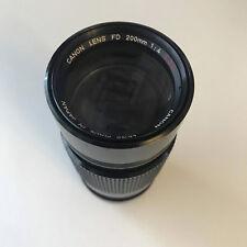 CANON FD 200mm f4 S.S.C. Lens 'GOOD'