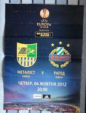 Original poster for the match Metalist Kharkiv - Rapid Vienna, Austria 2012