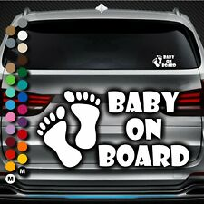 A141# Aufkleber Baby on Board Kind an Bord Tour Füße Herz Kids Kinder Sticker