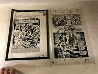 Red Sonja #12 pg #1,3 ART acetate TITLE SPLASH 1978 BUSCEMA ashes and emblems