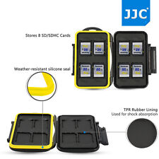 JJC Water-resistant&Anti-shock Memory Card Case Holder for 8 x SD SDHC Cards