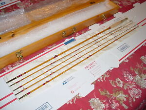 HIGH END Vintage USA CROSS Bamboo Fly Rod Before SOUTH BEND