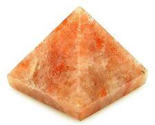 PYRAMID - SUNSTONE 23-28mm Crystal w/Description Card & Pouch- Healing Stone