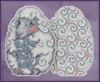 MILL HILL JIM SHORE Counted Cross Stitch Kit - SHEEP EGG JS18-1815