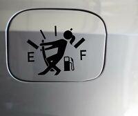 """Fuel Gauge Decal Stick gir  funny empty low gas fuel door vinyl sticker decal 4"""""""