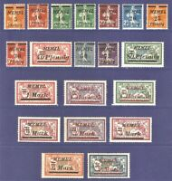 DR Memel Germany Rare WWI Stamp 1922 Overprint Occup Service Stamp Full Set Mint