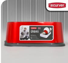 Curver Urban Rectangular Dish Drainer Tray - Metallic Red home or caravan