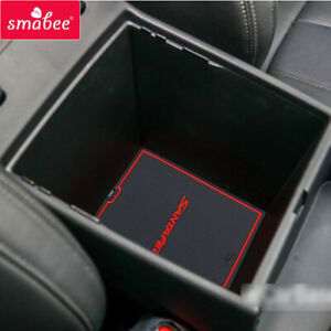Anti-Slip Gate slot Cup mat for Hyundai Santa Fe 2019 2020 SANTAFE Non-slip Pad