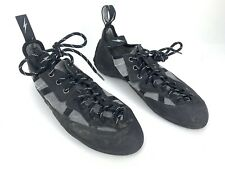Evolv Mens 9 42 Suede Lace Up Trax Fx3 Rock Wall Climbing Shoes Usa Black Gray