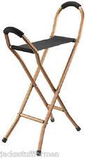 Harvy Aluminum & Nylon Quad Seat Cane Chair Walking Stick