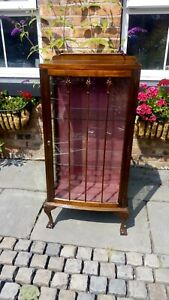 Antique glass cabinet victorian edwardian cabinet