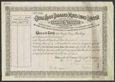 Share certificate (South Africa) Ottos Kopje Diamond Mines (1903) Ltd. (1904)