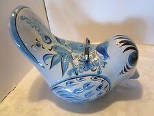 "Tonala pottery bird statue figurine folk art Mexico hand painted Quail 13"" LONG"