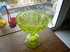 COUPE ANCIENNE  EN VERRE OURALINE / URANIUM GLASS / James Derbyshire
