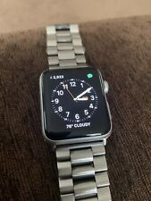 Apple Watch Series 3 42mm GPS + Cellular Stainless Steel Band