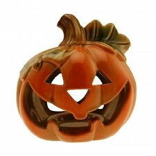 Halloween Ceramic Pumpkin Shaped Lantern Tealight Votive Candle Holder 12.5cm
