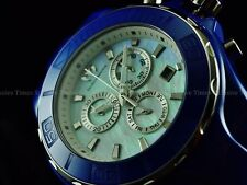 TechnoMarine Men 45mm Sapphire Cruise Chrono Platinum MOP All Blue Ceramic Watch